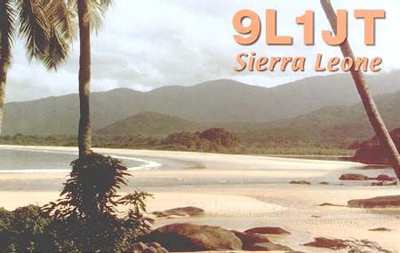 Сьерра Леоне 9L1JT QSL