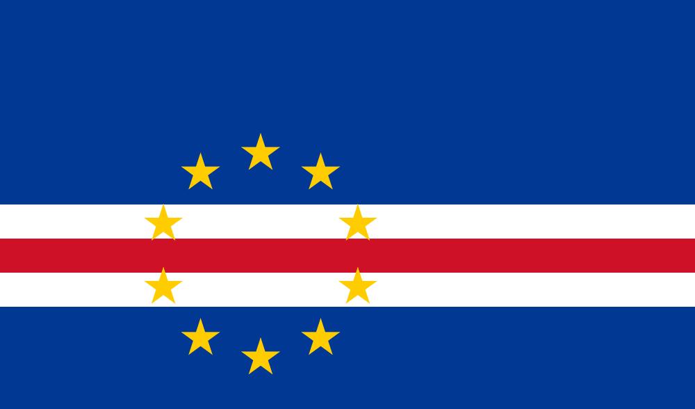 Кабо Верде Острова Зеленого Мыса Флаг Кабо Верде