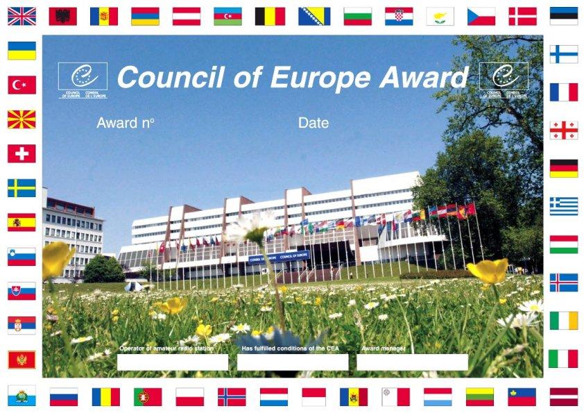 Совет Европы Радиоклуб Диплом TP2CE