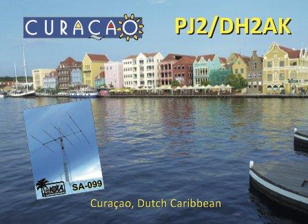 Остров Кюрасао PJ2/DH2AK QSL