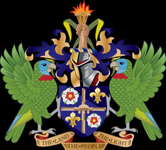 Герб Острова Сент Люсия J68HZ