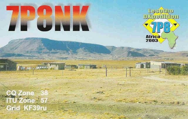 Лесото 7P8NK DX Новости QSL