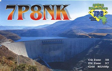 Лесото 7P8NK QSL