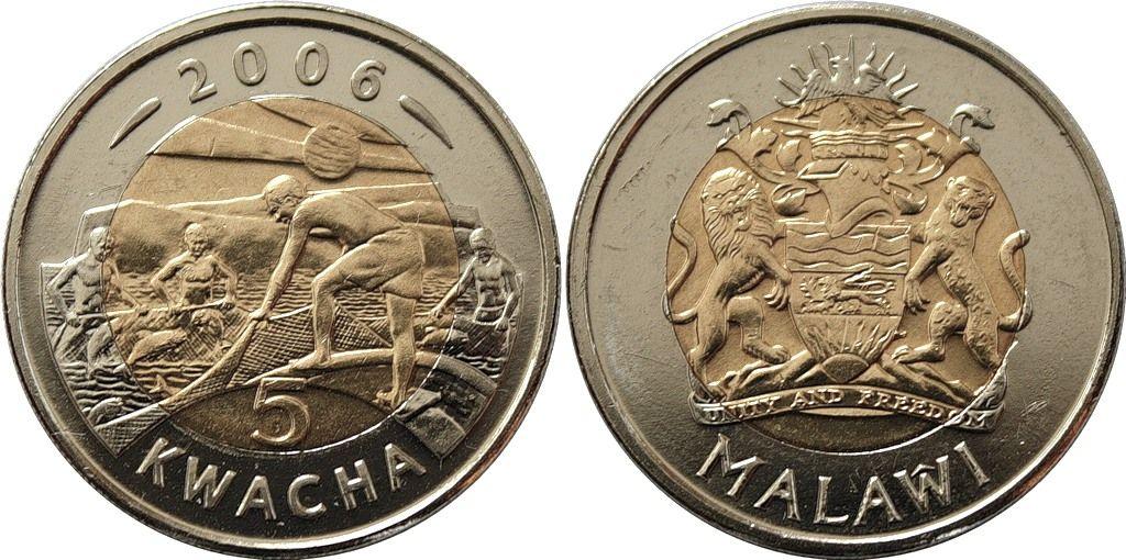 Малави 7Q7WV Монеты Республики Малави квачи