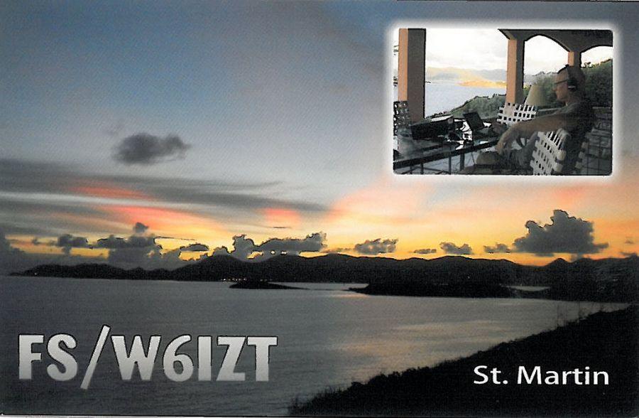 Остров Сен Мартен FS/W6IZT QSL 2