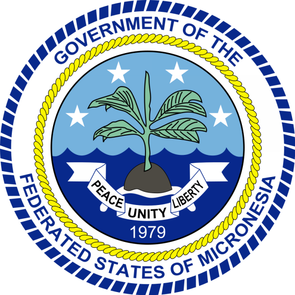 Остров Понпеи Герб Федеральных Штатов Микронезии V650XG