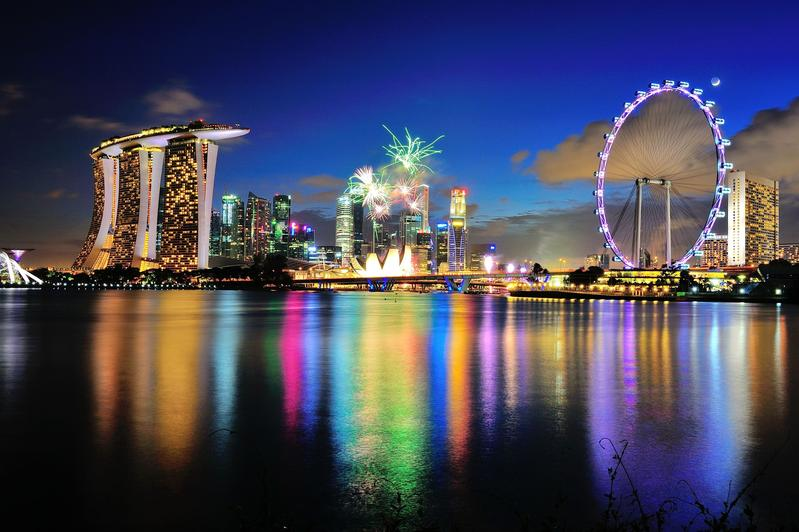 Singapore 9V1KK Marina Bay National Day 2012