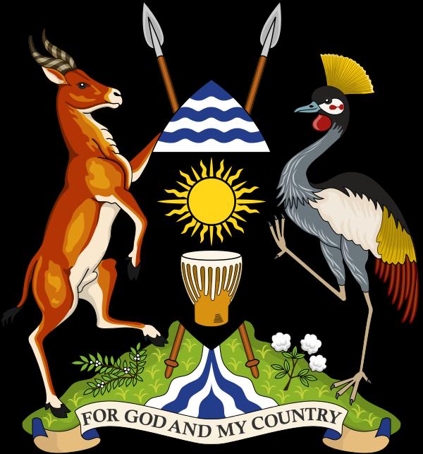 Уганда Герб Республики Уганда  5X1S