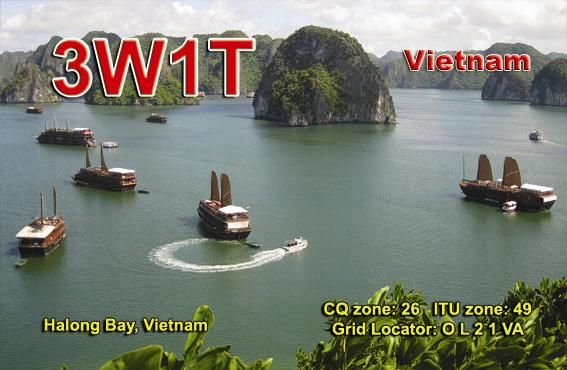 Вьетнам 3W1T QSL