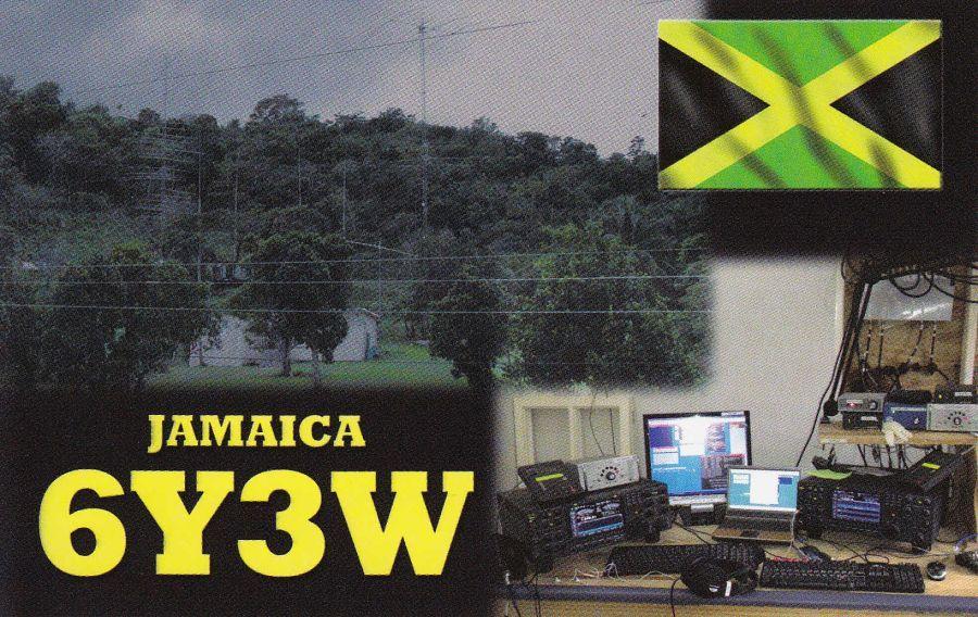 Ямайка 6Y3W QSL